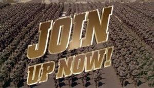 Parodie van een fascistische samenleving in Starship Troopers